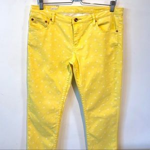 Quicksilver QSD | yellow polka dot cropped jeans